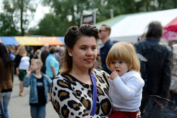 D-Day festival moeder en kindje