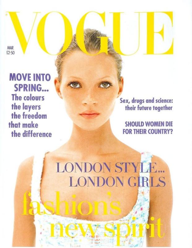 Eerste cover Kate Moss