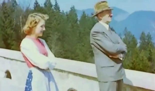 Eva Braun en Hitler beelden