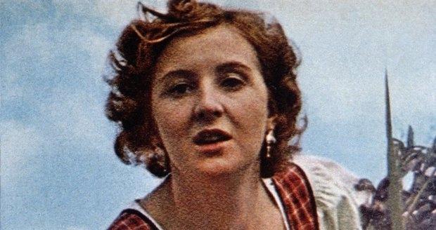 Eva Braun in het veld