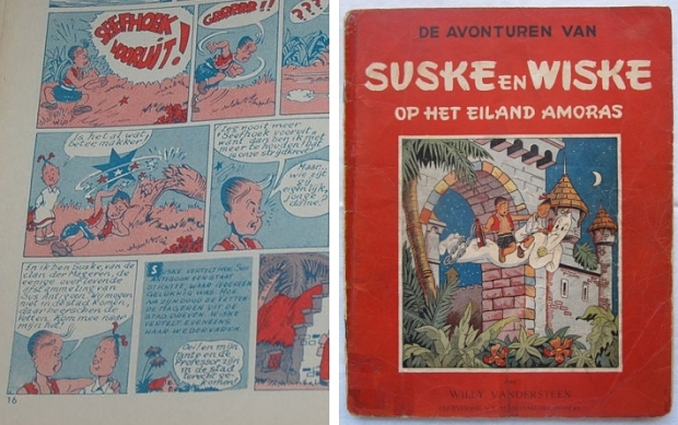 Het eiland Amoras stripverhaal