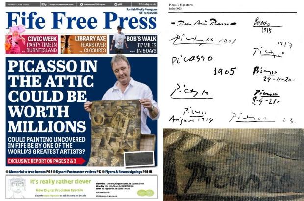 Picasso op zolder handtekeningen