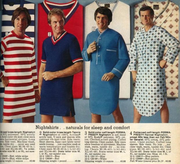 Seventies mannenkleding pyjama
