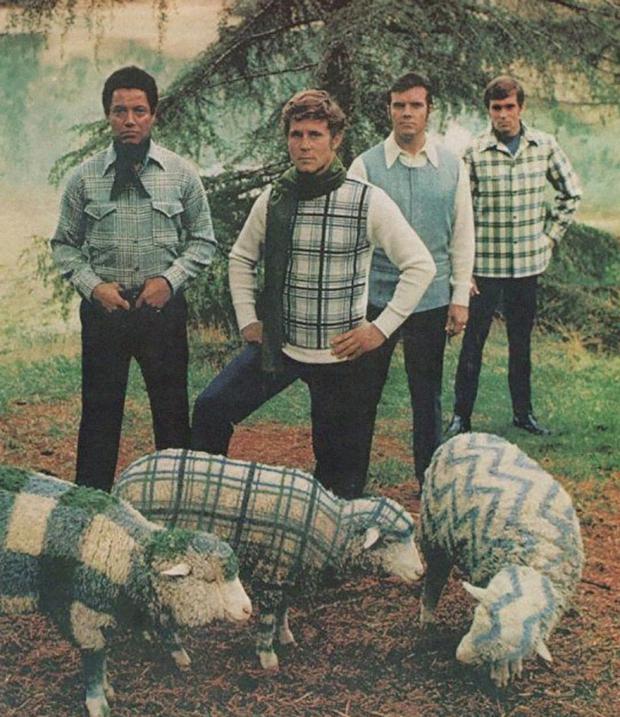 Seventies mannenkleding truien