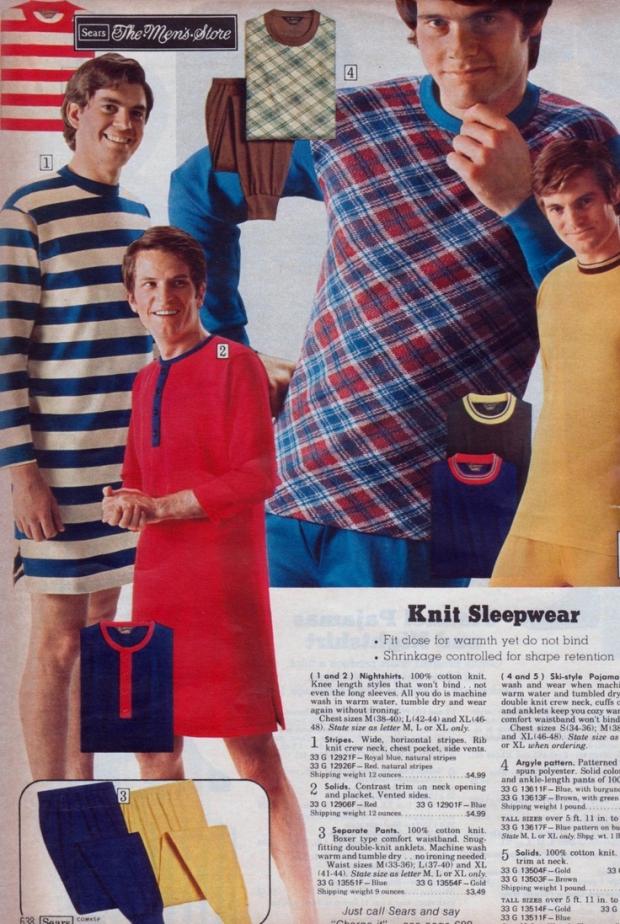 Seventies mannenmode sleepwear 2
