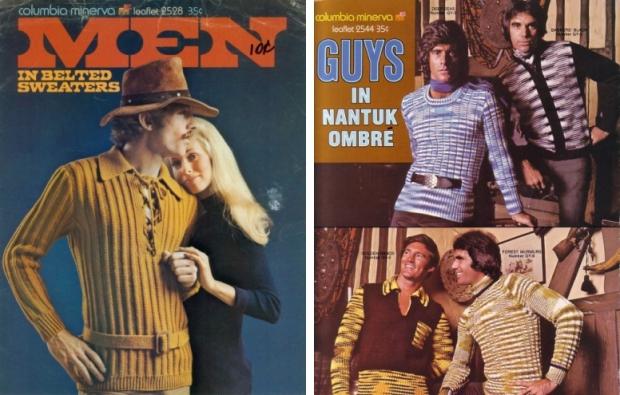 Seventies mannenmode truien riem