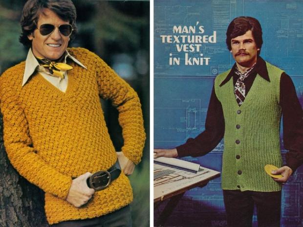 Seventies mannenmode truien vest
