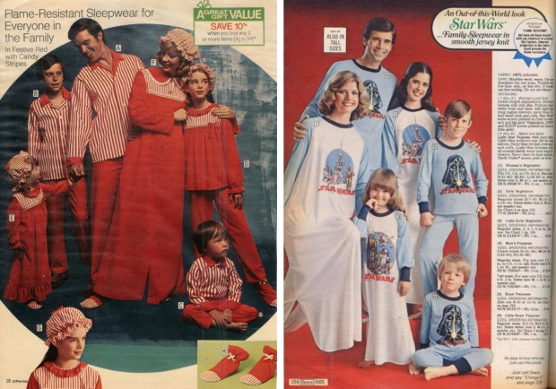 Seventies pyjamas gezinnen