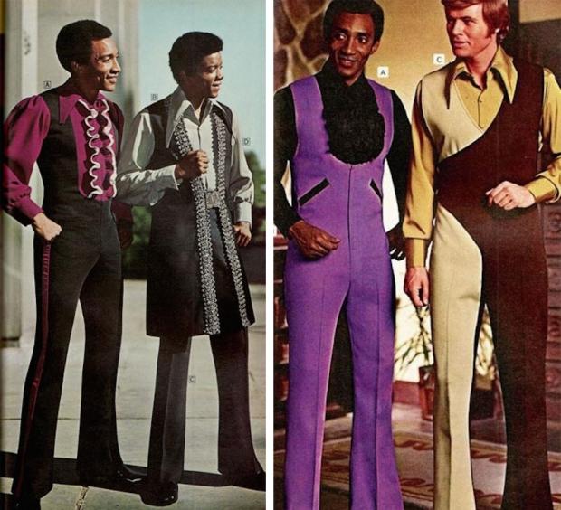Seventies uitgaansmode jumpsuits