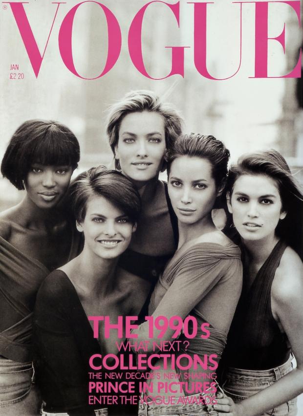 Supermodels Vogue cover