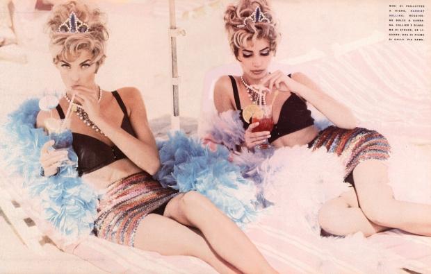 Turlington Evangelista 1990 Unwerth Vogue supermodellen