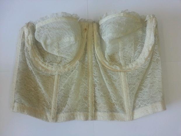 Vintage trouwjurk lijfje