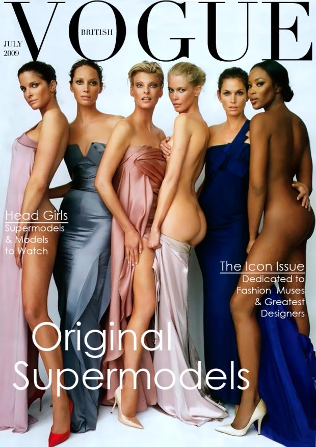 Vogue supermodellen niet vergeten