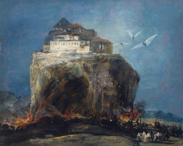 Goya Stad op een rots