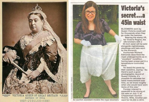 Koningin Victoria onderbroek krant