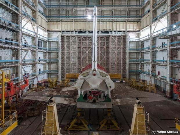 Russisch ruimteveer achterzijde
