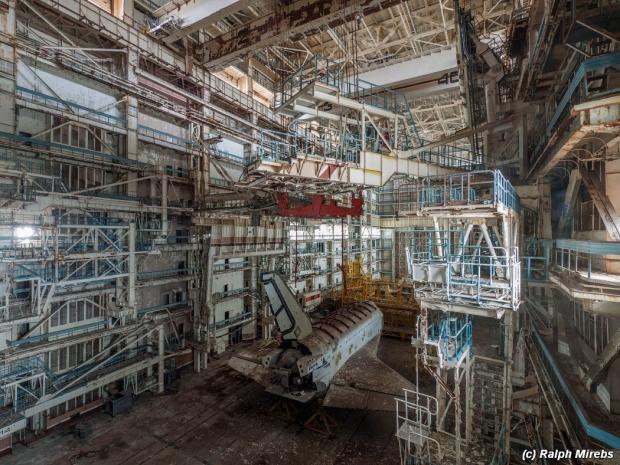 Russische ruimteveren loods achterkant