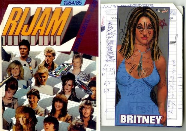 Schoolagenda tentoonstelling Britney Rijam