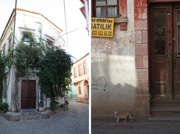 Ayvalik huizen straten