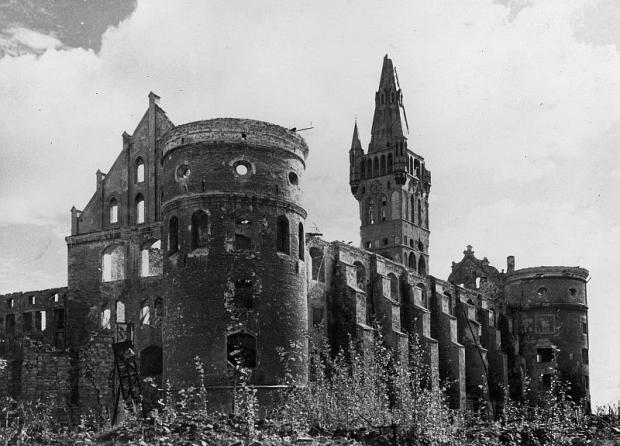 Barnsteenkamer Slot Koningsbergen ruïne