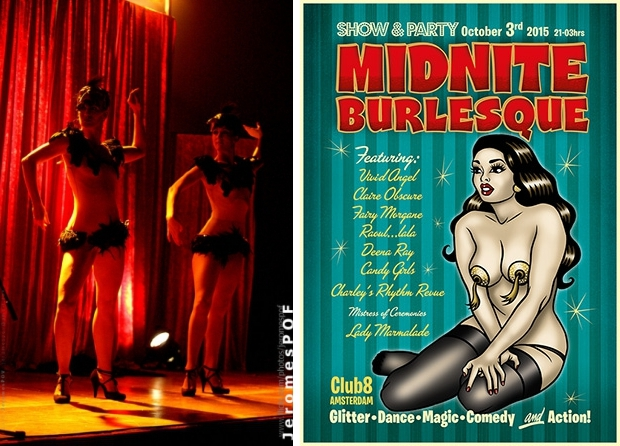Midnite Burlesque flyer