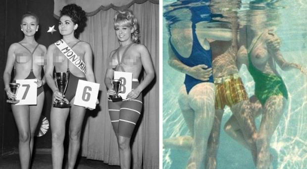 Monokini verkiezing zwembad