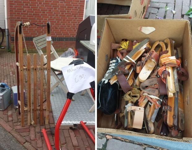 Schaatsen Hattem vlooienmarkt slee vintage go with the vlo