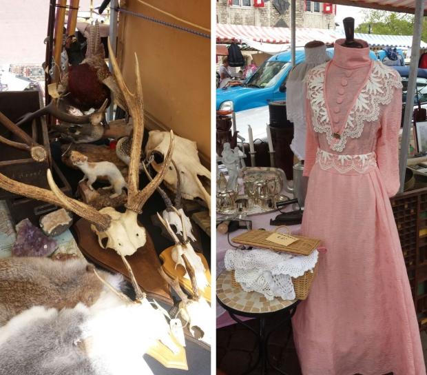 Gouds Montmartre antieke jurk geweien go with the vlo