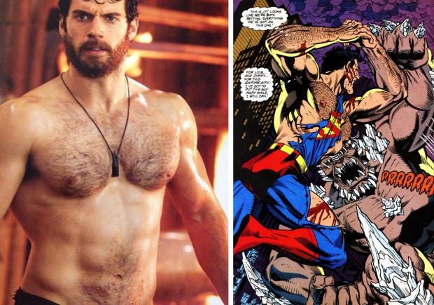Henry Cavill Superman borsthaar