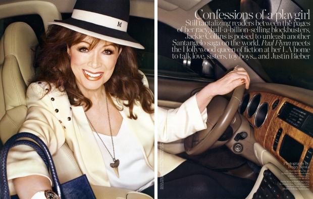 Jackie Collins interview auto