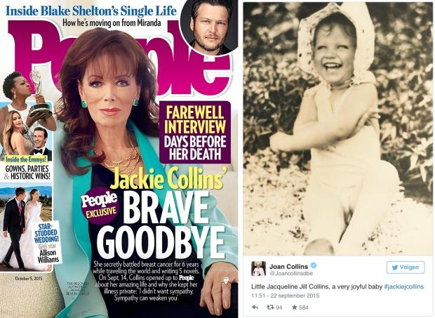 Jackie Collins laatste interview People Magazine
