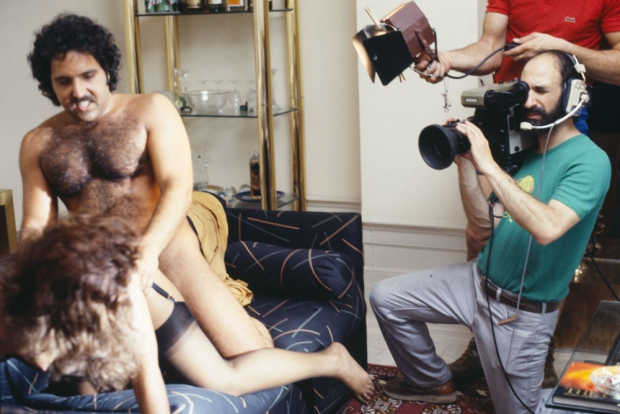 Ron Jeremy op de set