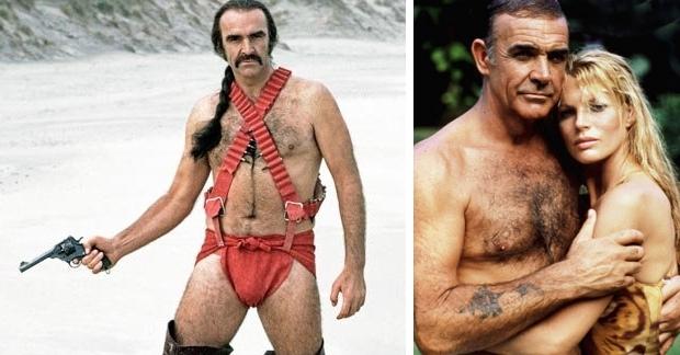 Sean Connery borsthaar luier