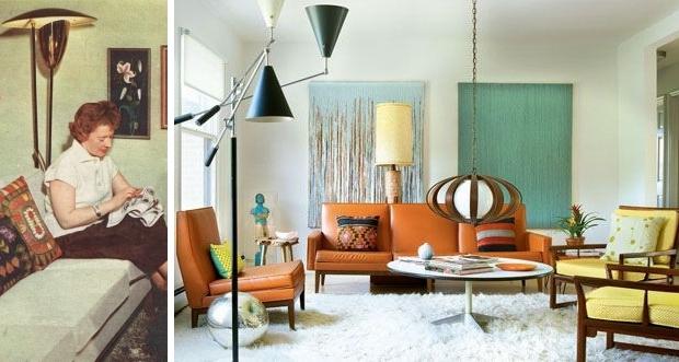 Vintage interieurs lampen gezellig
