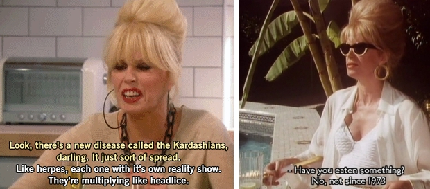 Absolutely Fabulous film Kardashians