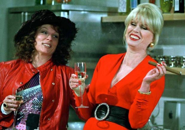 Absolutely Fabulous vieren met drank