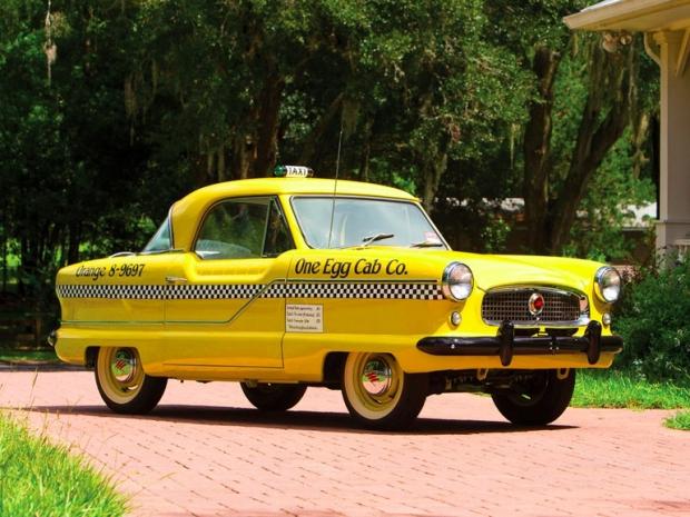 Gele taxi veiling oldtimer