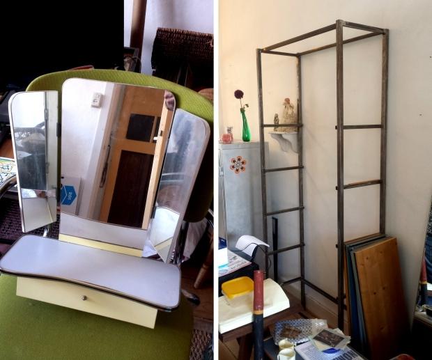 Huisontruiming Rotterdam kaptafel en boekenkast