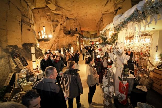 Kerstmarkt Valkenburg grotten