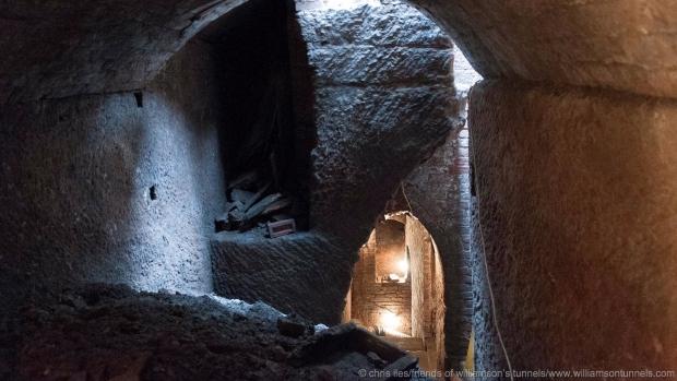 Liverpool ondergrondse tunnels licht