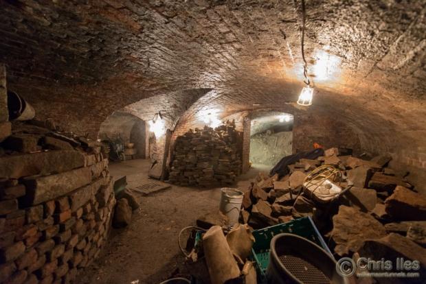 Liverpool ondergrondse tunnels spullen
