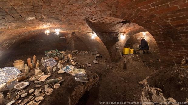 Liverpool uitgraven tunnels voorwerpen
