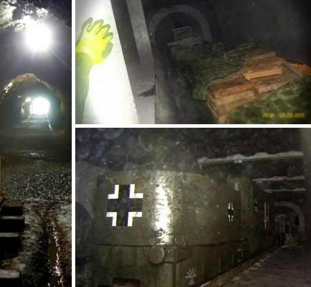 Nazitrein eerste foto's tunnel