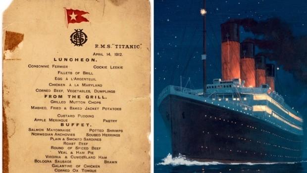 Titanic lunchmenu veiling banner