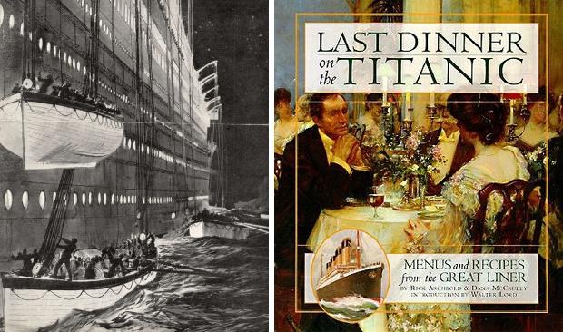 Titanic menu Last Dinner on the Titanic