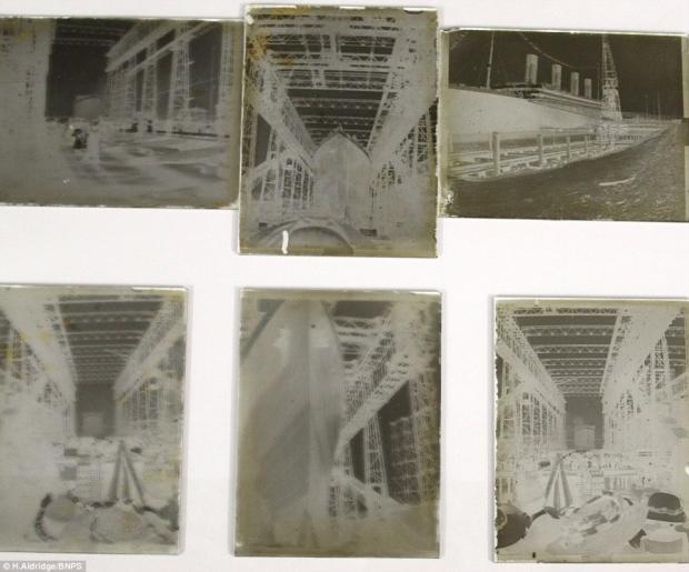 Titanic onbekende negatieven foto's