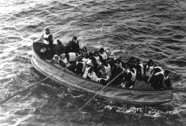 Titanic reddingsboot menukaart