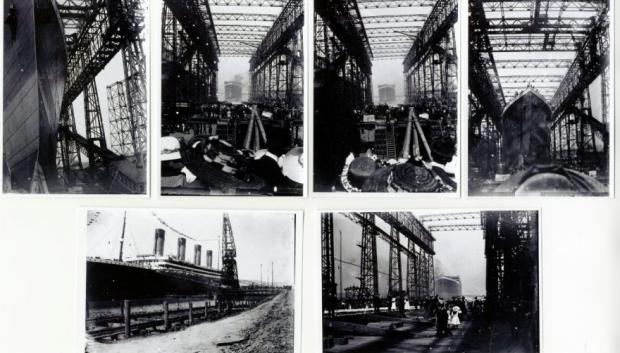 Titanic tewaterlating foto's