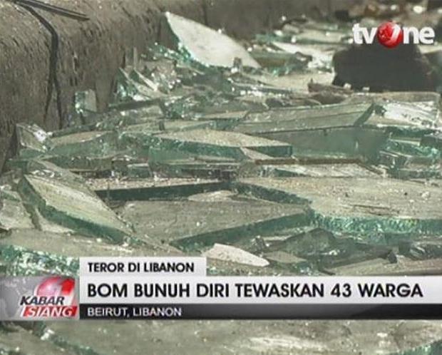 Beiroet bomaanslag terrorisme glas
