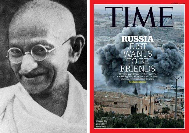 Gandhi Syrië aanval terrorisme